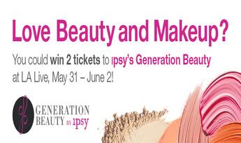 Tweet to Win 2 Tickets to ipsy's Generation Beauty in LA!