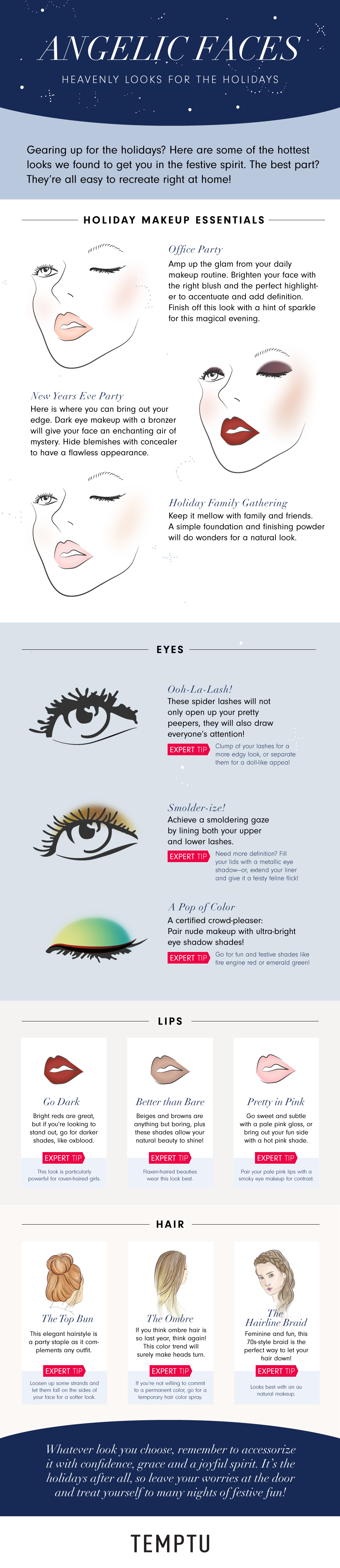 Holiday Beauty Tips for All Styles  An Infographic